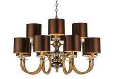 古铜复古美式吊灯