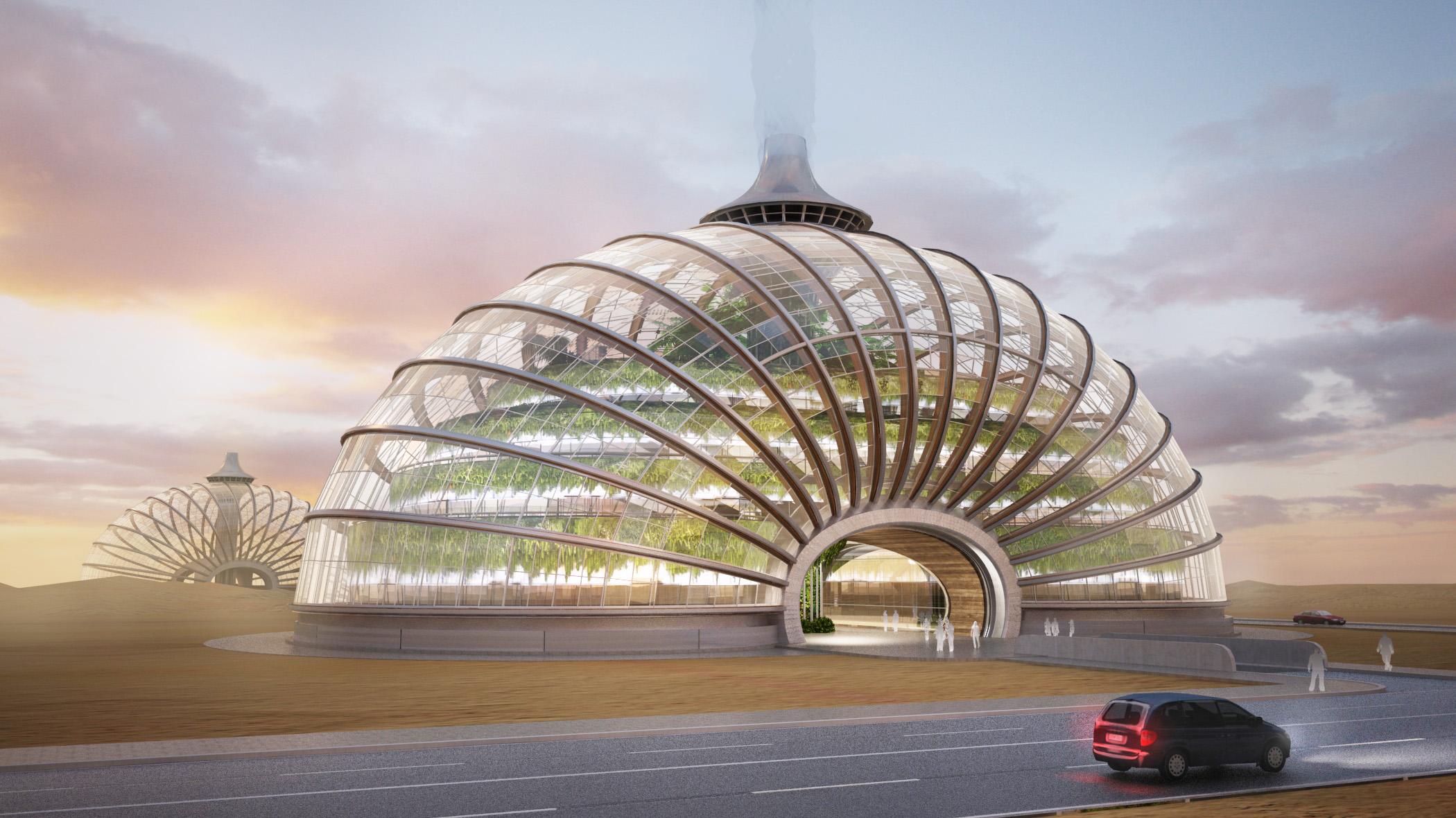 俄罗斯ARK绿色生态漂浮酒店建筑方案设计