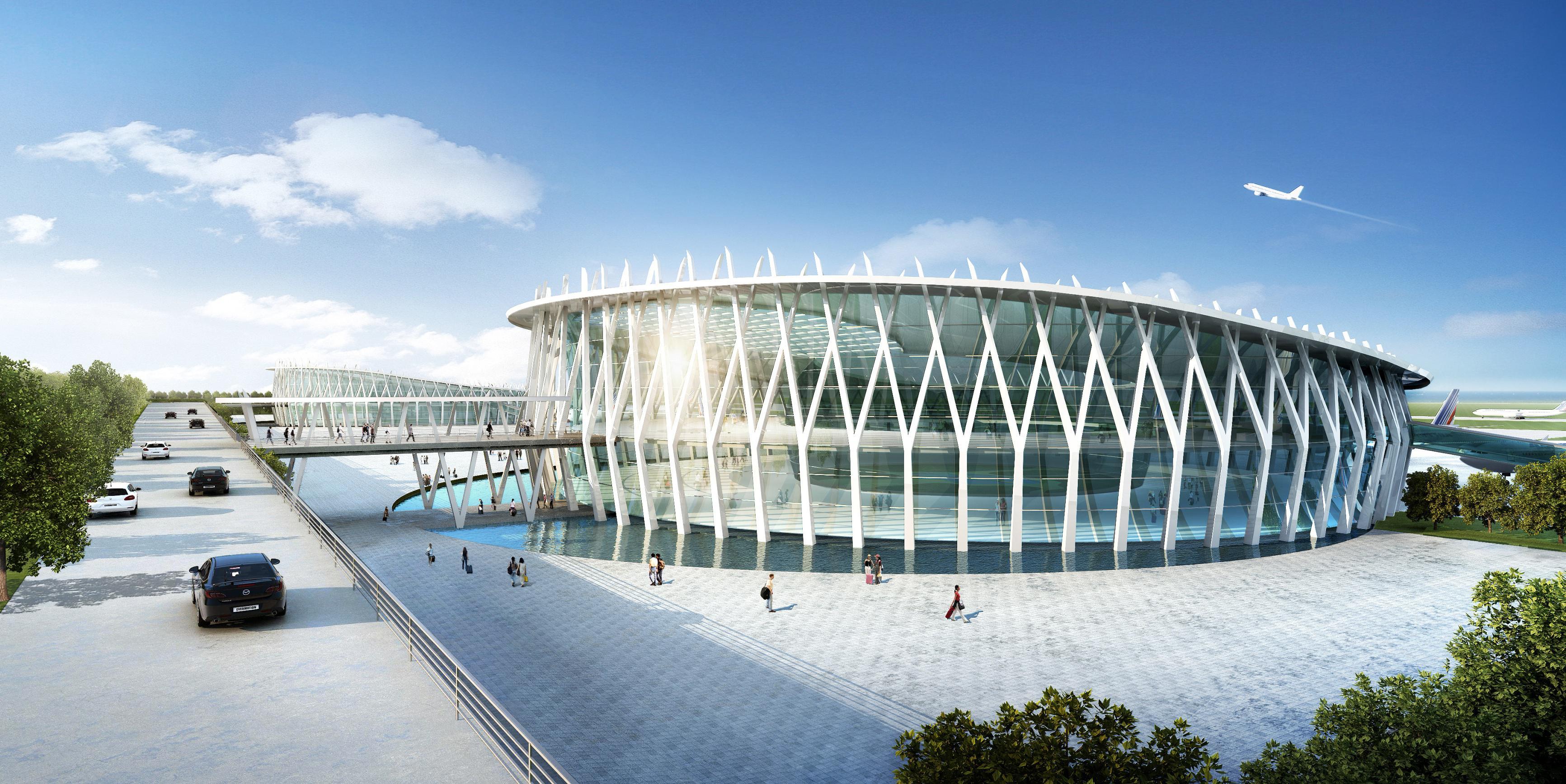 该机场将是朝鲜元山的国际化机场,原地块为朝鲜江原省一军用机场改造而成。运送货物以及乘客预计每年乘客总人数为六百万人次。机场东向105 公里是一个经济特区。 该机场也将为这个经济特区服务。由香港PLT Planning & Architecture Limited公司设计的元山国际机场在受到周围很多因素影响下,依旧满足客运和货运两用。主要的设计概念将传统和现代先进技术相结合。航站楼的外形选择是传统的鼓状。