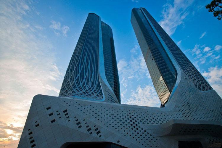 深圳华森建筑与工程设计顾问有限公司 >南京青奥中心建筑结构设计图片