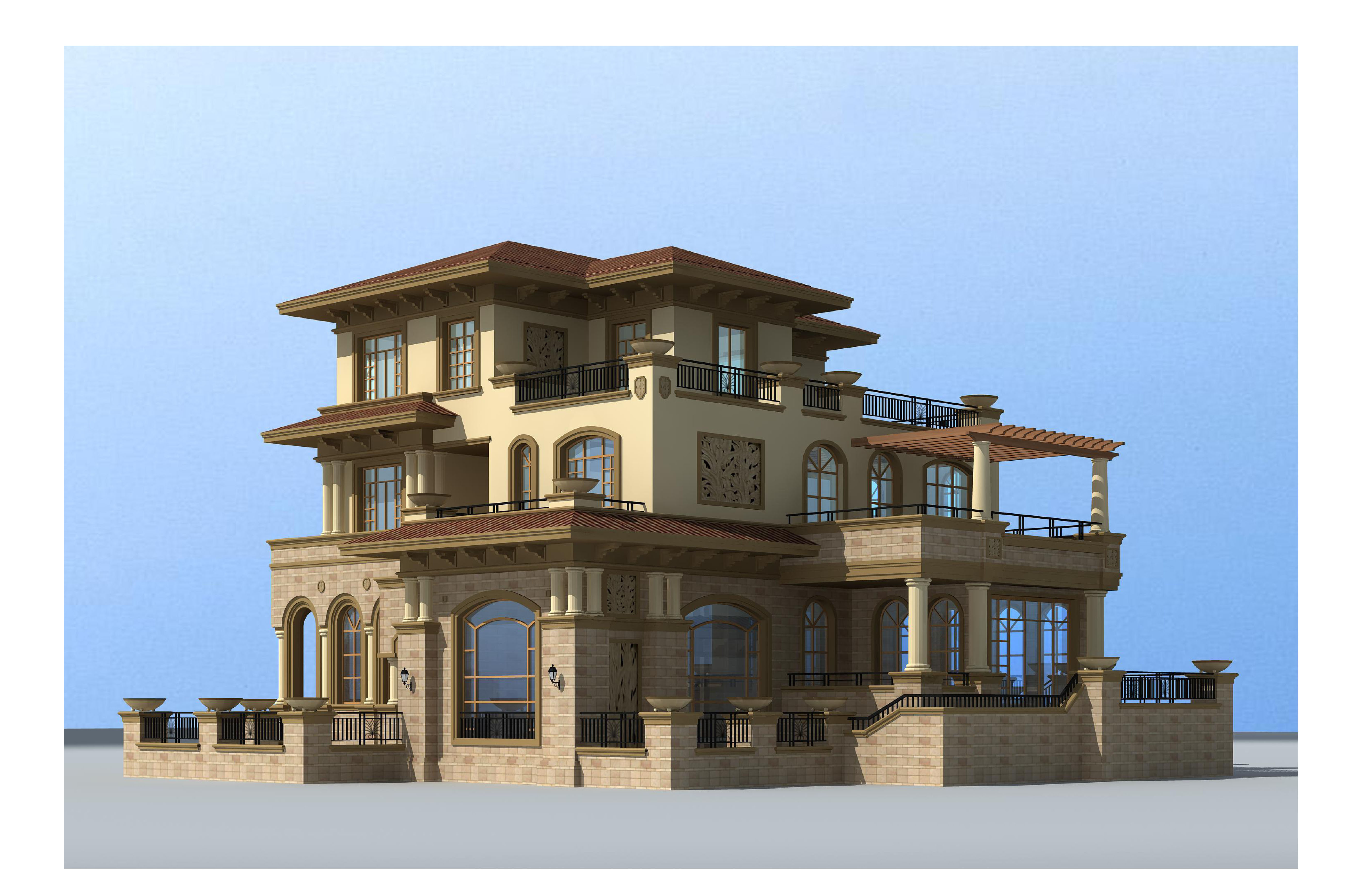 三层自建房别墅施工图设计套餐