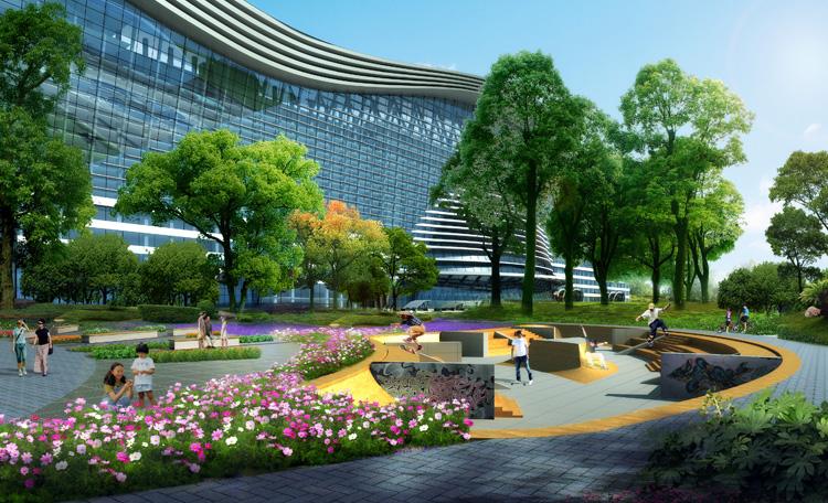 新世纪环球中心广场景观设计