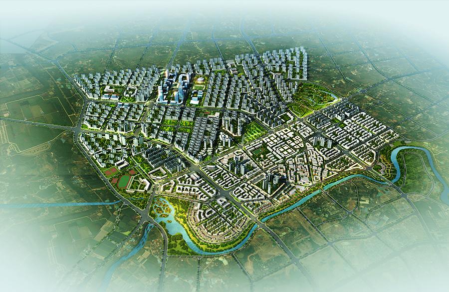 重庆大足龙水新城详细城市设计