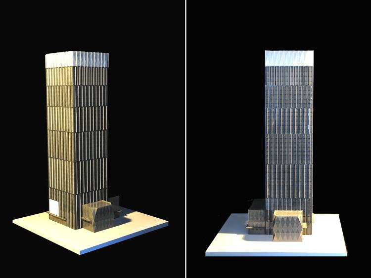 该项目位于广州市珠江新城,广州大道边,其定位为智能化超甲级写字楼,为该区域标志性建筑物之一。 建筑总高度为172米,地上37层,底下3层。立面以竖向错位线条构成其主要造型要素。其中,顶部的立体三维棱镜玻璃造型、23米高且全部通透的玻璃体人口大堂,皆为本设计亮点所在。