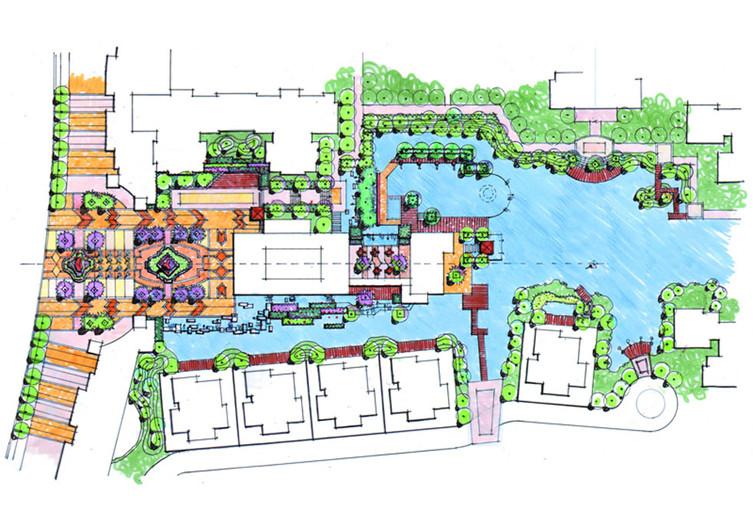 法式庭院景观设计平面图