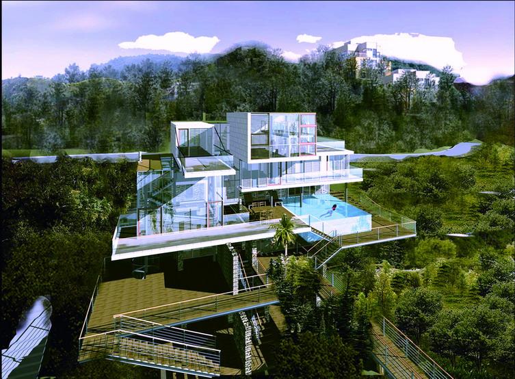 深圳联泰大梅沙别墅建筑方案设计