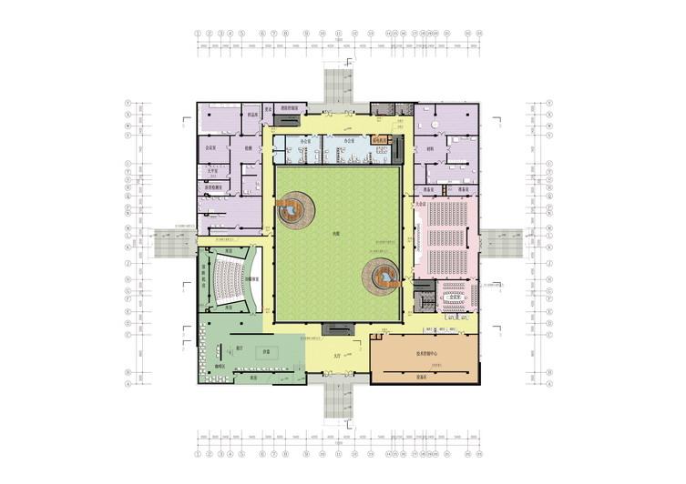 第三点,通过屋顶花园设计衔接局部二三层建筑空间.