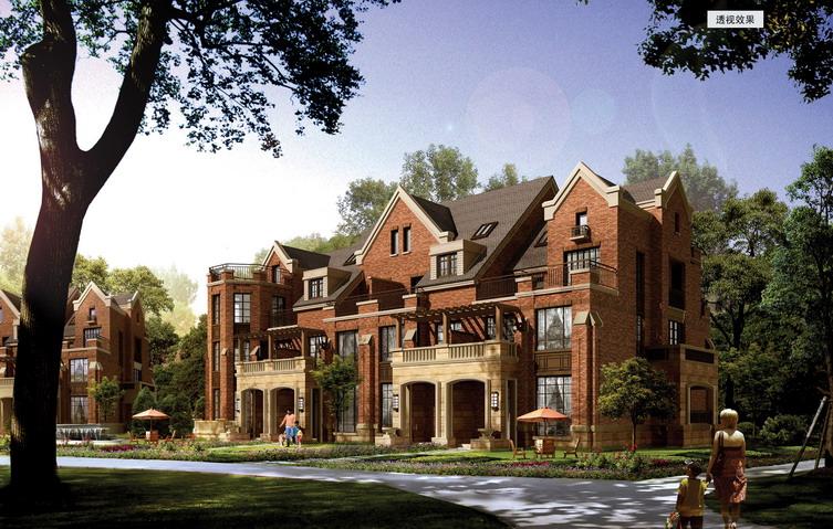 西安绿地诺丁山别墅建筑设计