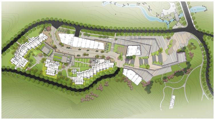 万科青岛小镇商业区景观设计