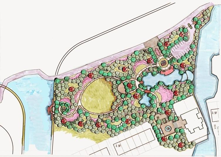 邯郸紫岸售楼处景观设计