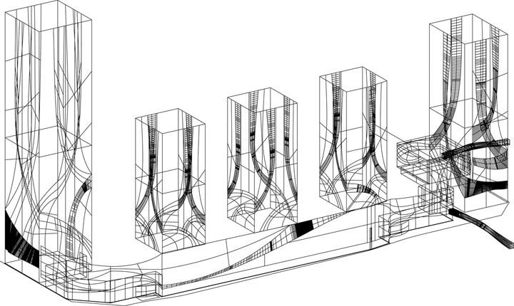 简单楼建筑简笔画