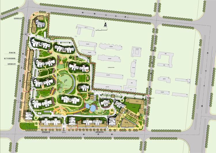 武汉金地格林东郡一期建筑方案设计
