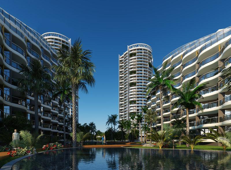 设计为集高层海景公寓,退台式海景公寓,海景别墅和星级酒店于一体的图片