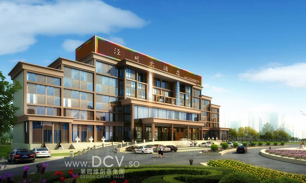 西安外立面设计/甘肃泾州商务酒店建筑外立面设计