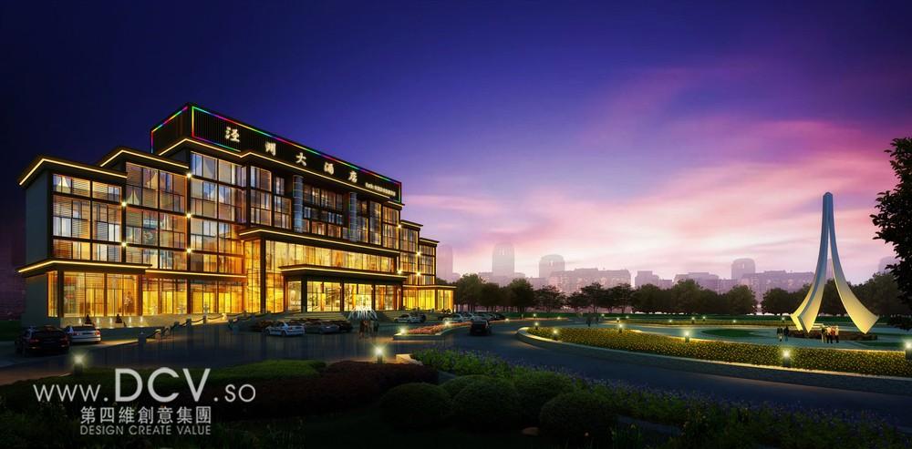 中国外立面设计/西安泾州商务流派建筑外立面设计甘肃现代室内设计倾向酒店主要有图片