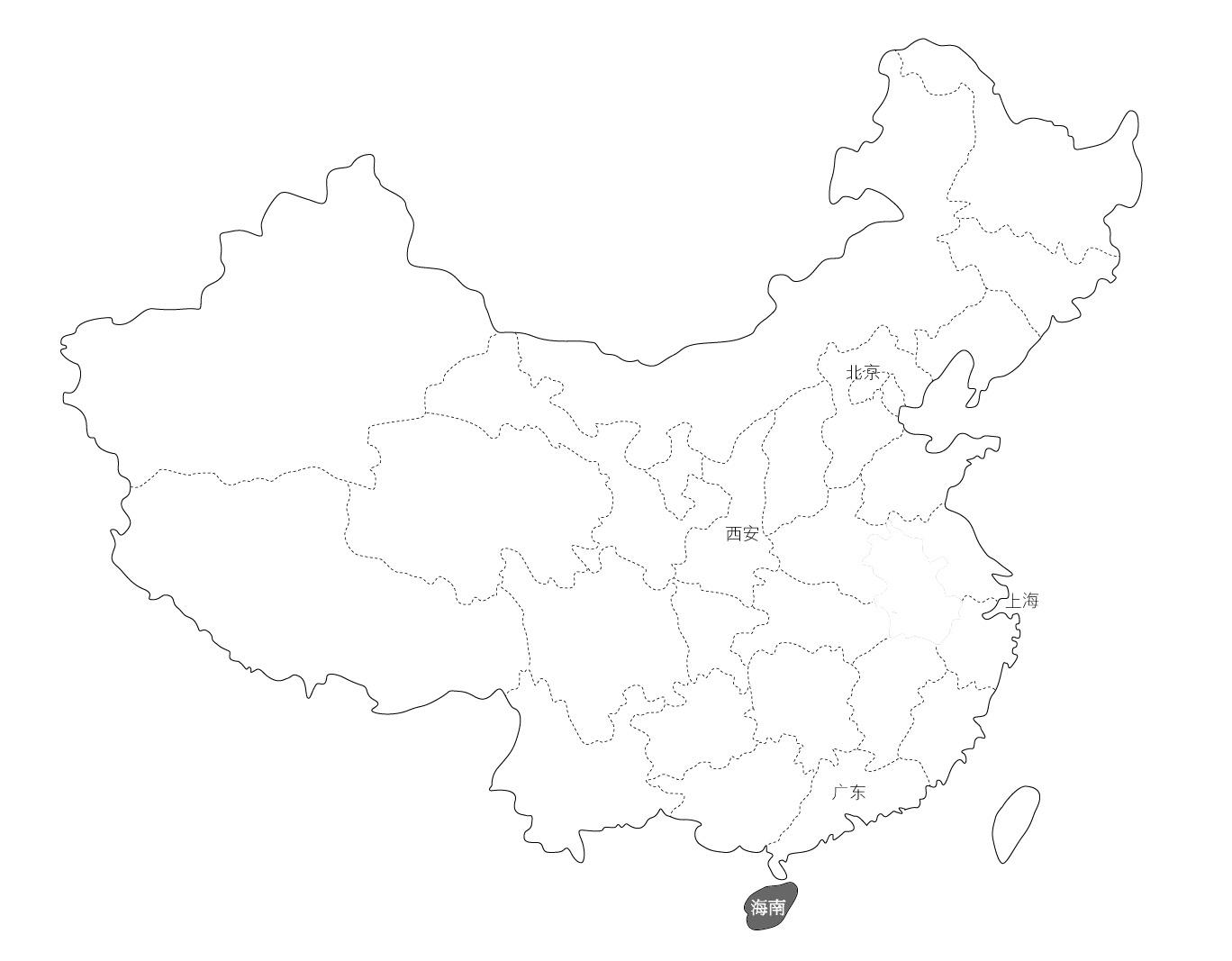 地图 简笔画 手绘 线稿 1368_1067