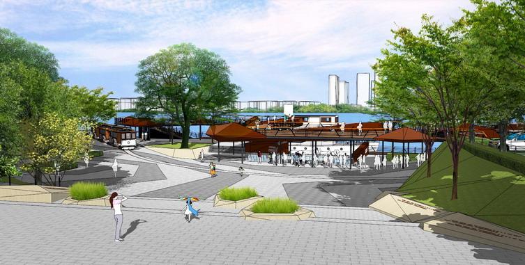 长沙滨江商业西岸新城旅游景观带-金盘网字体设计借形图片