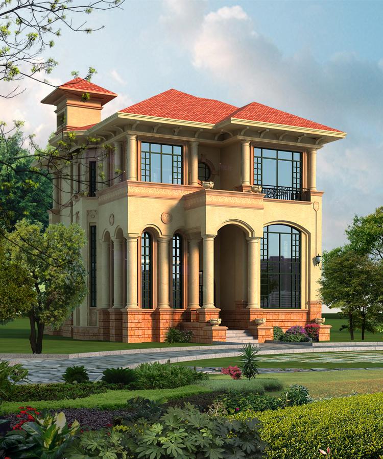 三层自建房别墅效果图,平面图,施工图设计案例