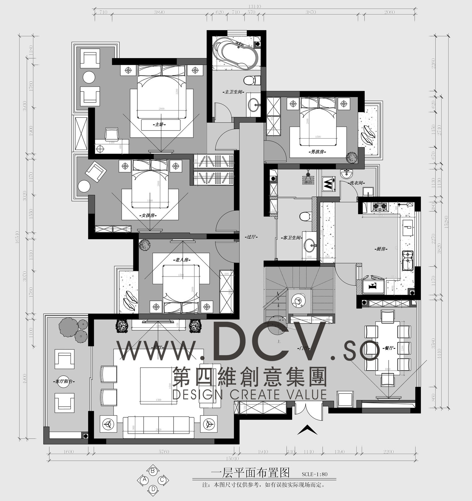 西安别墅设计/曲池坊新中式样板间