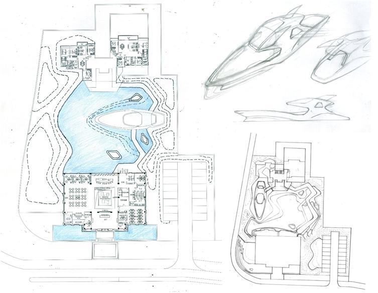 龙湖配置手绘图