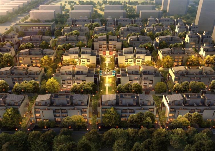 鳥瞰效果圖 東望對別墅區和高層區分區管理,中間用綠籬、植物等進行隔離。高層區有自己的園林和公共活動空間,別墅區做到了100%的極致純粹,這在鄭州目前的高端別墅市場絕無僅有。因為用心,帶給居者的也將是獨一無二的生活品質。 售樓處位于地塊主入口的西側,結合主入口景觀利用綠化帶一同形成連續完整的參觀入口儀式體驗。 采用中國皇城建制的五門制營造出城池宮殿的感覺,并由526塊金屬框、7089顆燈珠鑲嵌而成的金屬幕墻橫亙城門之上,由風速傳感器和電腦芯片控制的燈光,變化出不同的形狀,風生歡愉萌芽追