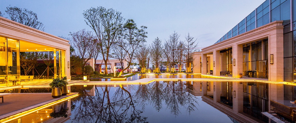 SED Landcape Architect Ltd. +Neoclassicism +resident+water feature+water Mirror+lamplight+night view+SED新西林景观国际 (1).jpg