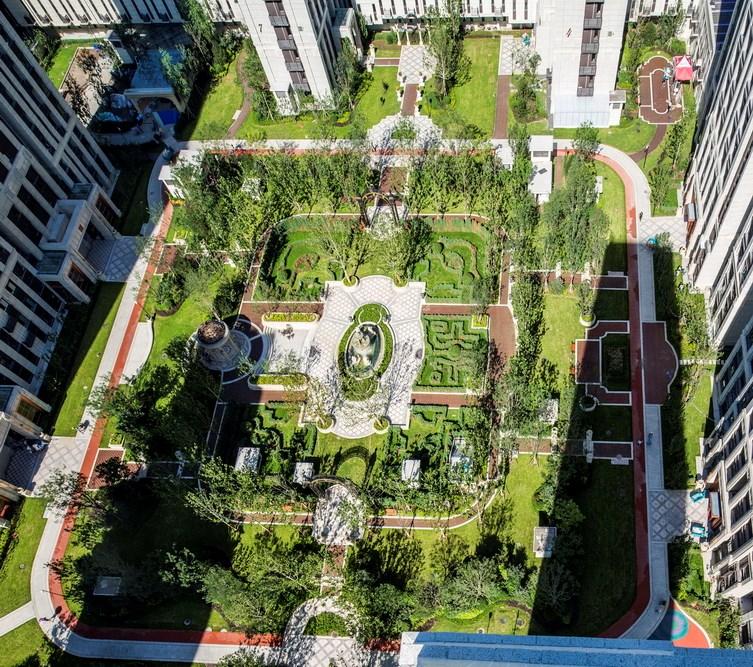景观广场铺装花纹平面