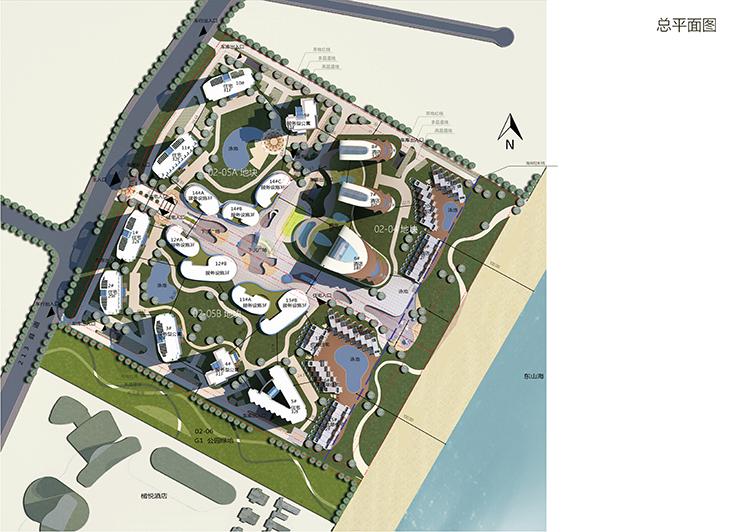 海景沙滩规划平面图