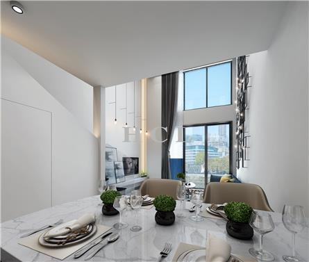 枫叶样板房设计,LOFT时尚元素公寓AB户型