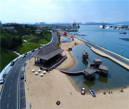 烟台龙湖葡醍海湾景观
