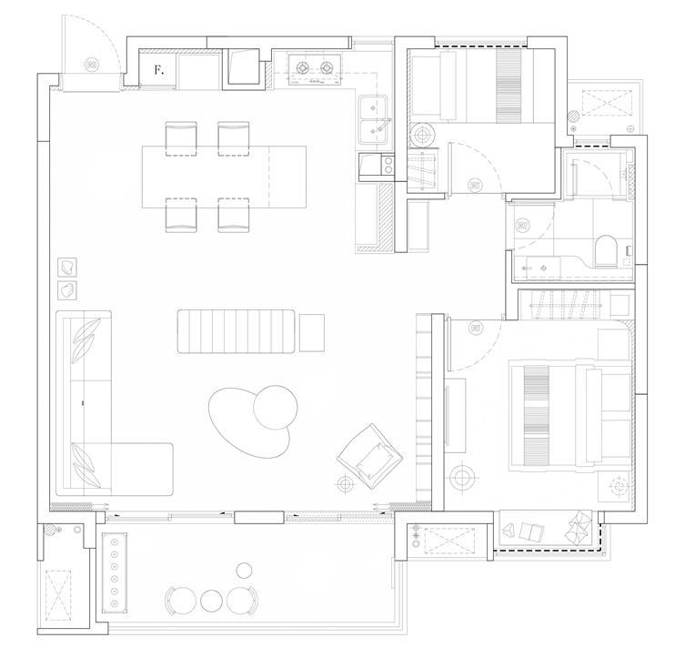都市·雅痞——南昌绿地朝阳中心创意户型样板间