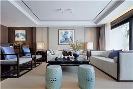 柳州冠亚宽庐独栋别墅样板房设计--新中式雅奢