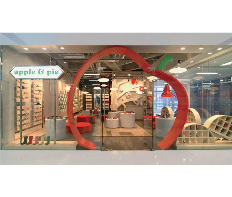 apple & pie 童鞋專賣店設計