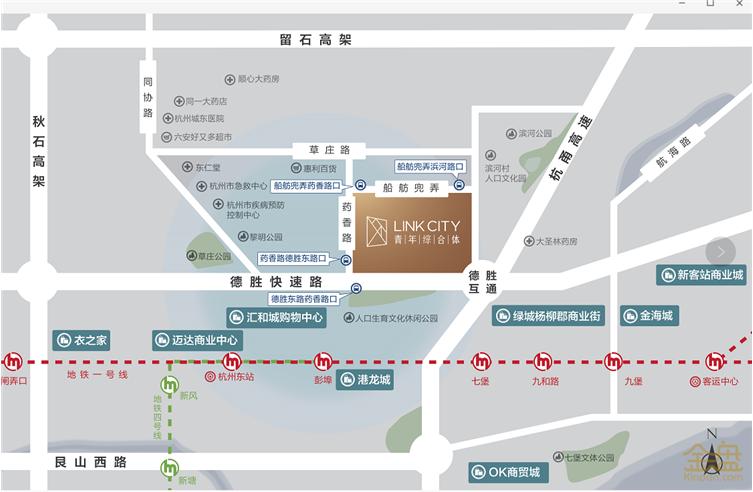 浙江旭辉·link city 青年综合体