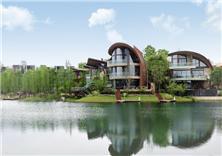 成都麓湖生态城黑珍珠蓝花屿景观设计