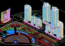 小区建筑模型