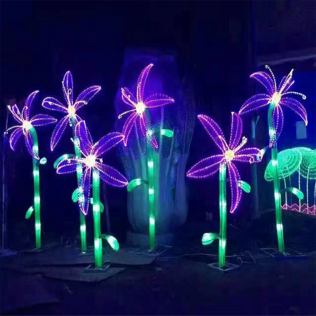 大型仿真植物造型灯光设计