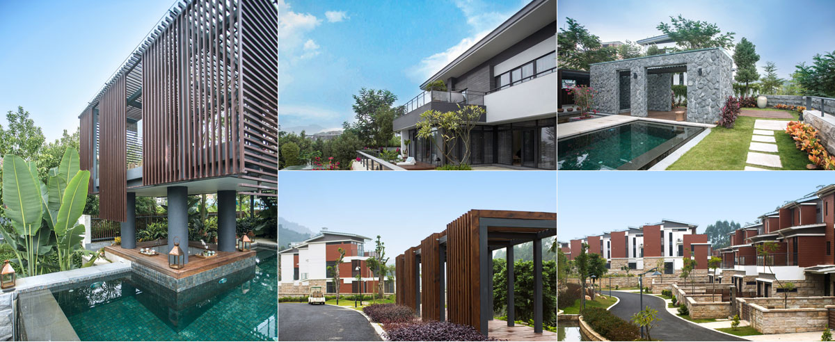 為了和建筑設計風格統一,景觀設計會運用一些與建筑同色調,同語言的