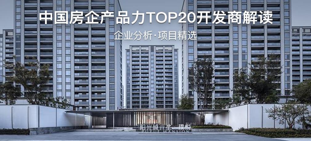 中国房企产品力TOP20开发商解读