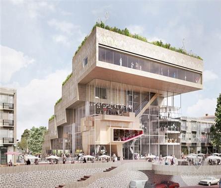 荷兰阿纳姆ArtA商业文化中心建筑方案设计