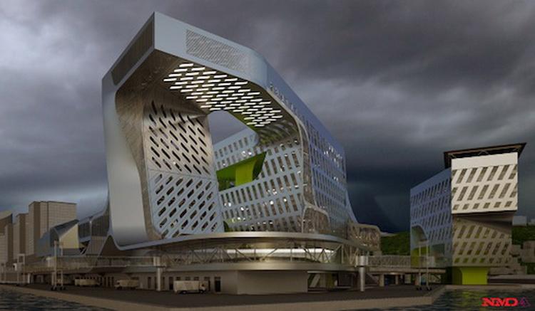 台湾新海港商业办公建筑方案设计