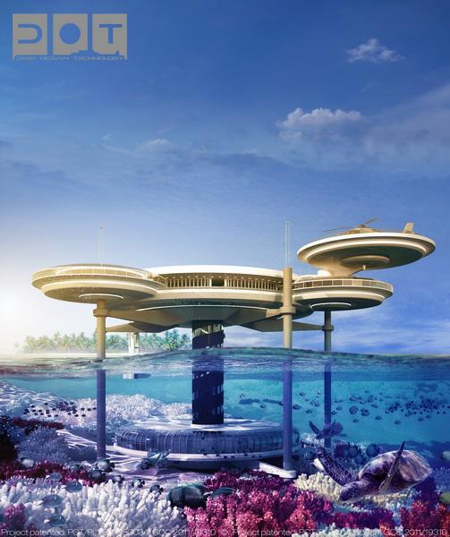 迪拜铁饼水下酒店建筑方案设计