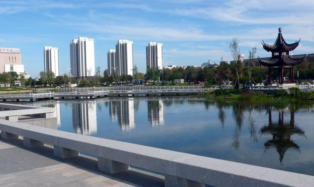 东营市供水公司公园景观改造