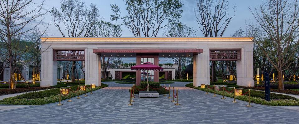 SED Landcape Architect Ltd. +Neoclassicism +resident+Entrance gate+night view+SED新西林景观国际 (2).jpg