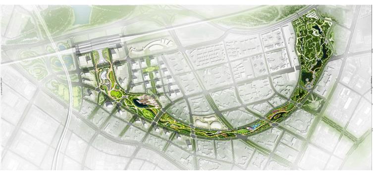 深圳半月环景观规划概念设计