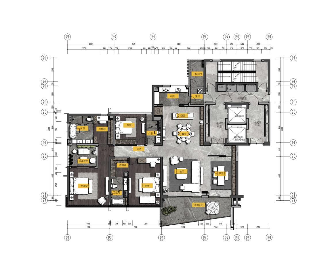 清远保利天汇宸悦 -室内设计:李益中空间设计