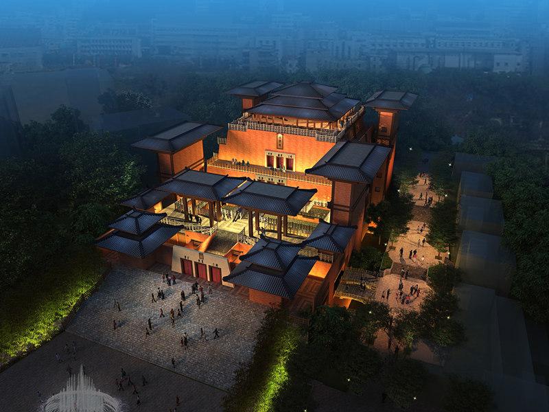 中国三峡宜昌古佛寺概念性规划与建筑方案设计
