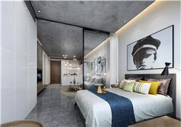 楓葉樣板房設計,LOFT時尚元素公寓AB戶型