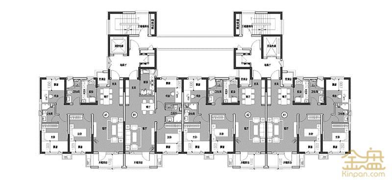 57翡翠城-16~21#高层标准层平面图.jpg