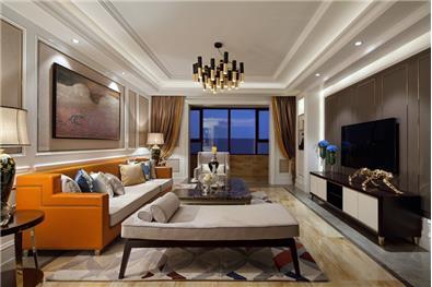 愛馬仕橙新古典風格樣板房設計